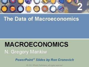 2 The Data of Macroeconomics MACROECONOMICS N Gregory