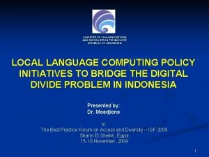 MINISTRY OF COMMUNICATIONS AND INFORMATION TECHNOLOGY REPUBLIC OF