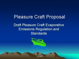Pleasure Craft Proposal Draft Pleasure Craft Evaporative Emissions
