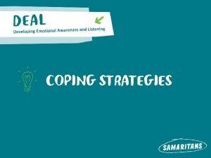 COPING STRATEGIES COPING EXAM STRESS Scenario Two students