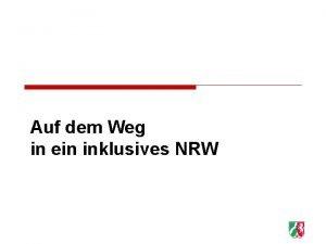 Auf dem Weg in ein inklusives NRW 1