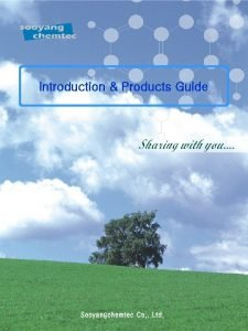 Introduction Products Guide Introduction Products Guide Sharing with