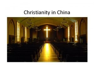 Christianity in China Christians believe that Jesus was
