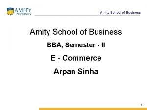 Amity School of Business BBA Semester II E