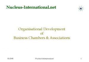 NucleusInternational net Organisational Development of Business Chambers Associations