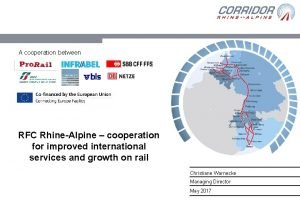 A cooperation between RFC RhineAlpine cooperation for improved