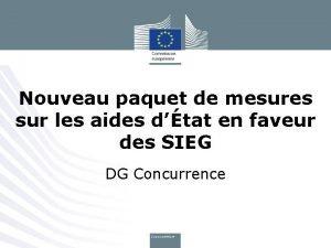 Nouveau paquet de mesures sur les aides dtat