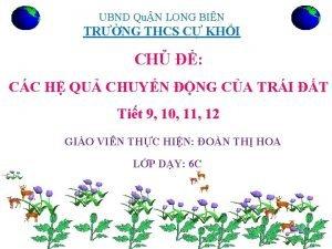 UBND QuN LONG BIN TRNG THCS C KHI