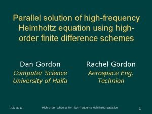 Parallel solution of highfrequency Helmholtz equation using highorder