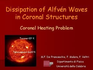 Dissipation of Alfvn Waves in Coronal Structures Coronal