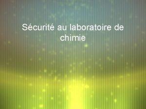 Scurit au laboratoire de chimie Pictogrammes de scurit