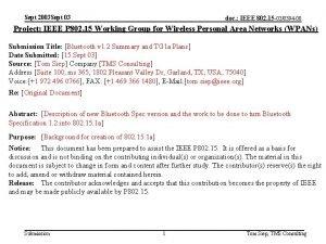 Sept 2003 Sept 03 doc IEEE 802 15