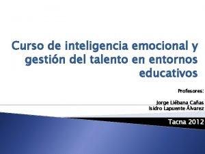 Curso de inteligencia emocional y gestin del talento