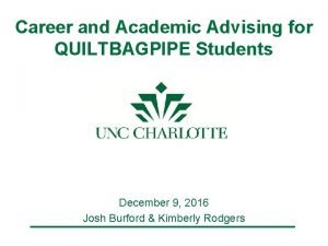 Career and Academic Advising for QUILTBAGPIPE Students December