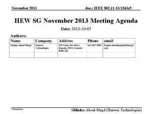 November 2013 doc IEEE 802 11 131263 r