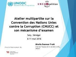 Atelier multipartite sur la Convention des Nations Unies