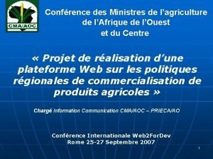 Confrence des Ministres de lagriculture de lAfrique de