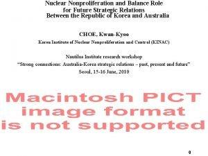 Nuclear Nonproliferation and Balance Role for Future Strategic
