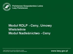 Modu RDLP Ceny Umowy Wieloletnie Modu Nadlenictwo Ceny