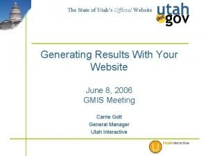 The State of Utahs Official Website Generating Results