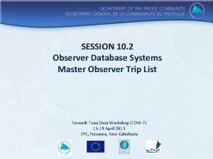 SESSION 10 2 Observer Database Systems Master Observer