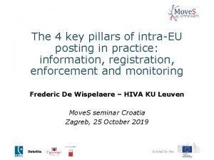 The 4 key pillars of intraEU posting in