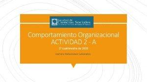 Comportamiento Organizacional ACTIVIDAD 2 A 2 cuatrimestre de