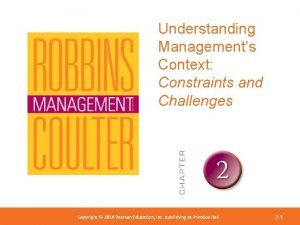 Understanding Managements Context Constraints and Challenges Copyright 2012