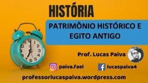 PATRIMNIO HISTRICO E EGITO ANTIGO PATRIMNIO q PATER