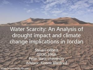 Water Scarcity An Analysis of drought impact and