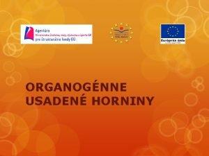 ORGANOGNNE USADEN HORNINY USADEN HORNINY Usaden horniny s