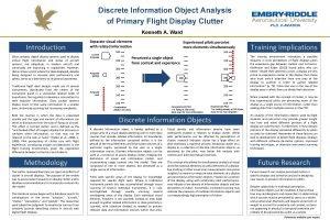 Discrete Information Object Analysis of Primary Flight Display