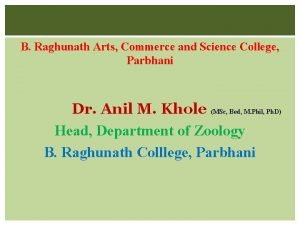 B Raghunath Arts Commerce and Science College Parbhani
