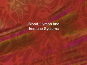 Blood Lymph and Immune Systems Blood hemo and