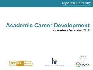 Academic Career Development November December 2018 edgehill ac