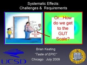 Systematic Effects Challenges Requirements Systematic Bias Or How