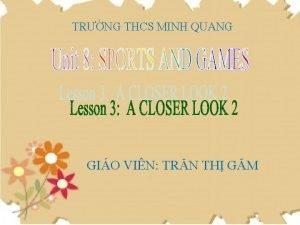 TRNG THCS MINH QUANG GIO VIN TRN TH