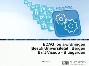 EDAG og aordningen Besk Universitetet i Bergen Britt