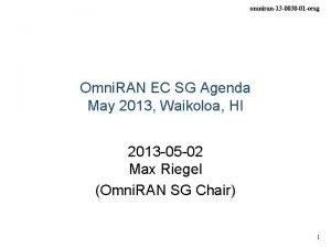 omniran13 0030 01 ecsg Omni RAN EC SG