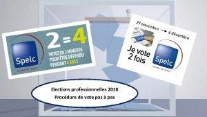 Elections professionnelles 2018 Procdure de vote pas pas