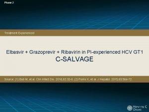 Phase 2 Treatment Experienced Elbasvir Grazoprevir Ribavirin in