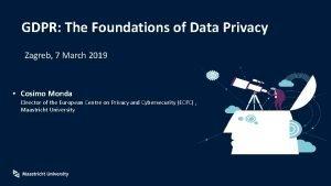 GDPR The Foundations of Data Privacy Zagreb 7