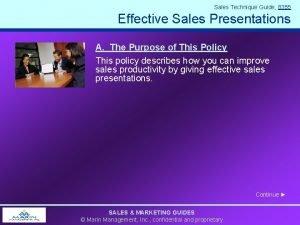 Sales Technique Guide 8355 Effective Sales Presentations A