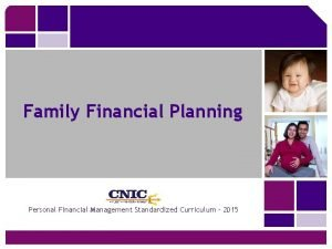 Family Financial Planning Personal Financial Management Standardized Curriculum