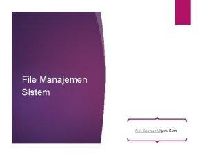 File Manajemen Sistem Putritaqwa sigmail om Hirarki data