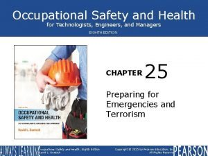 Occupational Safety and Health for Technologists Engineers and