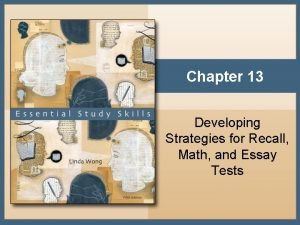 Chapter 13 Developing Strategies for Recall Math and