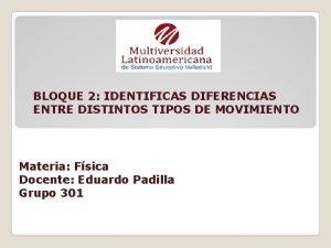 BLOQUE 2 IDENTIFICAS DIFERENCIAS ENTRE DISTINTOS TIPOS DE