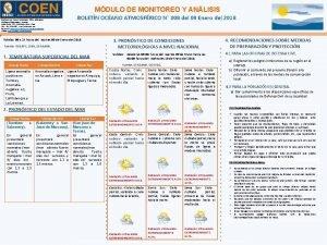 MDULO DE MONITOREO Y ANLISIS BOLETN OCANO ATMOSFRICO