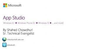 Windows 8 1 Windows Phone 8 1 Windows